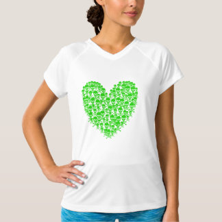 Green Skull Heart T-Shirt
