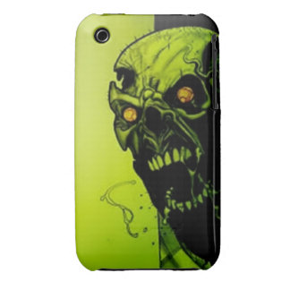 Green Skull iPhone 3 Case