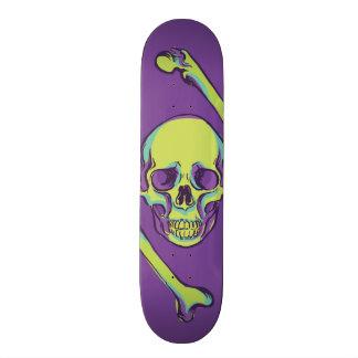 Green Skull on Purple Death 21.6 Cm Skateboard Deck