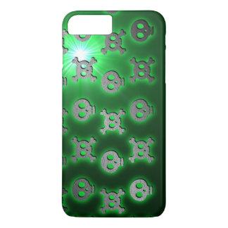 Green Skull Skip iPhone 7 Plus Case