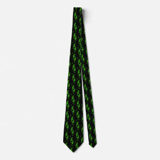 Green Skull Tie