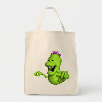 Green Slime Monster Tote Bag