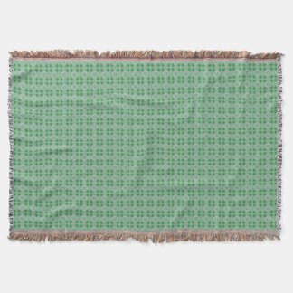 Green small clover pattern throw blanket