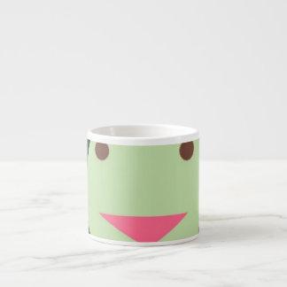green smiley face mug