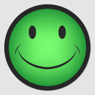 Green Smiley Sticker