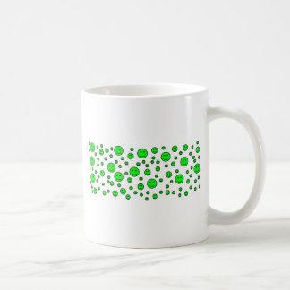 Green Smileys Coffee Mug