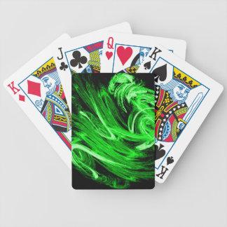Green Smoke Bicycle Playing Cards