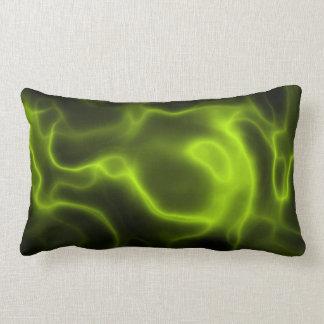 Green smoke effect lumbar pillow