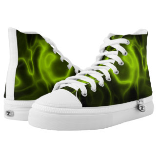 Green smoke effect printed shoes