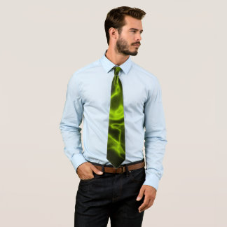 Green smoke effect tie