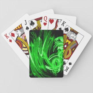 Green Smoke Playing Cards