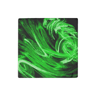 Green Smoke Stone Magnet