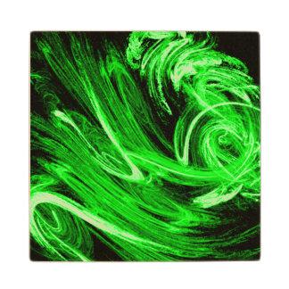 Green Smoke Wood Coaster