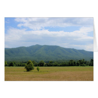 Green Smoky Mountains Stationery Note Card