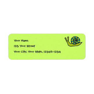 Green Snail Return Address Label