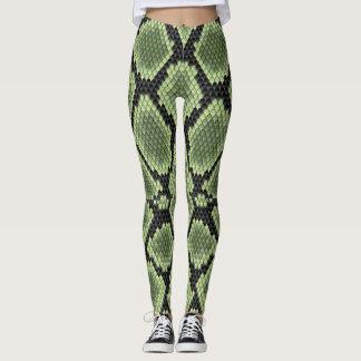 Green Snake Print Leggings