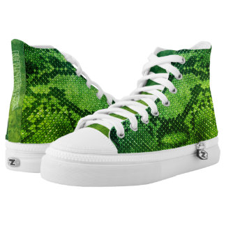 Green Snake skin style High Top