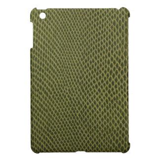 green snakeskin print iPad mini cases