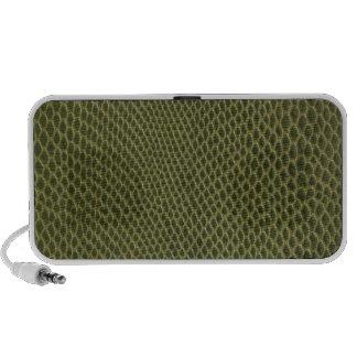 green snakeskin print iPod speaker