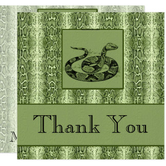 Green Snakeskin Professional Business Thank You Card