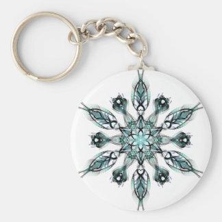 Green Snowflake Key Ring