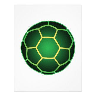 Green soccer ball 21.5 cm x 28 cm flyer