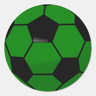 Green Soccer Ball Round Sticker