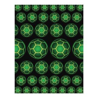 Green soccer balls 21.5 cm x 28 cm flyer