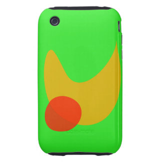 Green Space Tough iPhone 3 Case