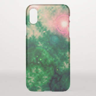 Green Space Diffuse Nebula and Supernova iPhone X Case