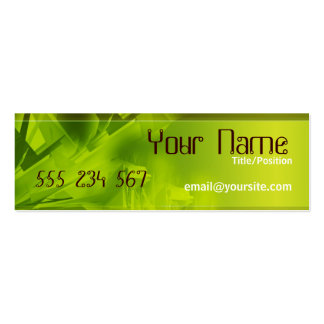 GREEN SPACE Skinny Profile Pack Of Skinny Business Cards