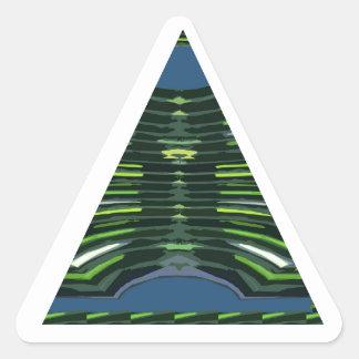 GREEN Sparkle Triangle Pyramid NVN237 NavinJOSHI Triangle Sticker