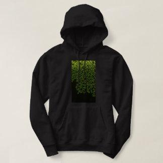 green speckle hooded sweatshirt
