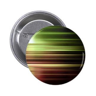 Green speed blur 6 cm round badge