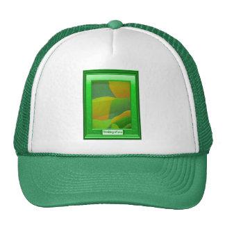 Green spheres trucker hat