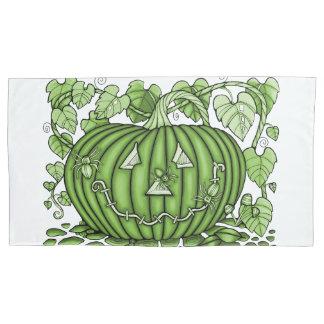 Green Spidery Pumpkin Pillowcase