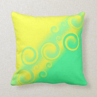 green spiral American MoJo Pillows