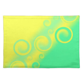 green spiral American MoJo Placemats