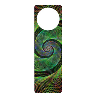 Green spiral door knob hangers