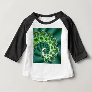 Green Spiral Fractal Baby T-Shirt
