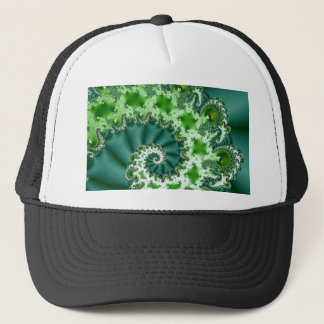 Green Spiral Fractal Trucker Hat