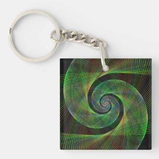 Green spiral key ring