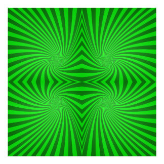 Green spiral pattern photographic print