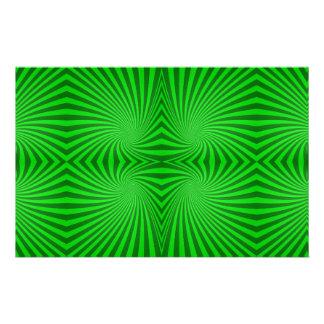 Green spiral pattern custom stationery