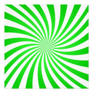Green spiral photographic print