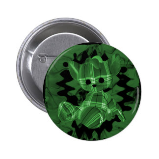 Green Spiral Smoke Teddy Bear Pins