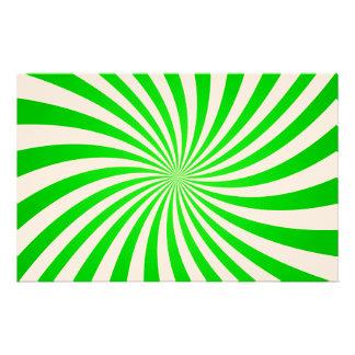 Green spiral stationery design