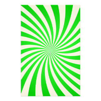 Green spiral personalised stationery