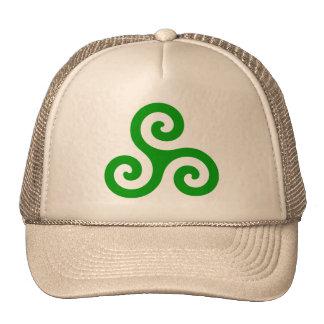 Green Spiral Triskele Hat