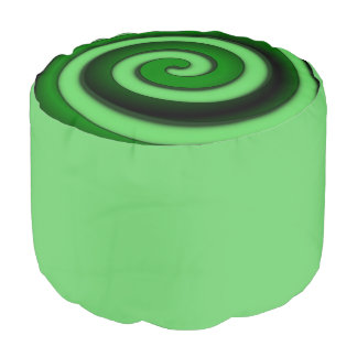 Green Spiral Zone Pouf